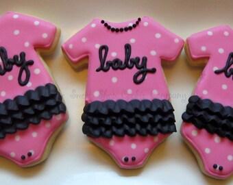 Girlie Baby Shower cookies 2 dozen