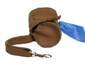 Leather Dog Poop Bag Case/Dispenser