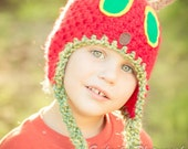 Caterpillar Hat. Newborn to Child sized, Photo Prop. Girls caterpillar color option added.