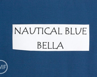 One Yard Nautical Blue Bella Cotton Solid Fabric from Moda, 9900 236