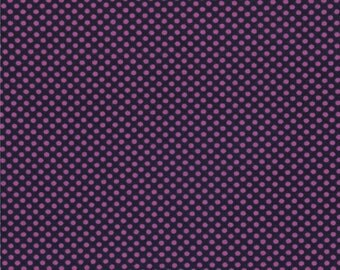 Half Yard Hello Petal Ditty Dots in Darling Navy Blue, Aneela Hoey, Moda Fabrics, 100% Cotton Fabric, 18566 24