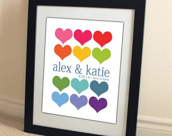 SALE wedding couple personalized 8x10 gay marriage rainbow custom photo gift by Amber Sue Photography pride valentine