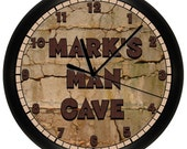 Personalized Man Cave Wall Clock Game Room