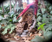 Fairy house, fairy cottage, door opens, fairy garden, miniature house