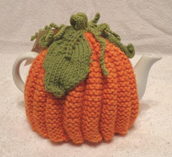 Hand Knit Tea Cozy Pumpkin Time