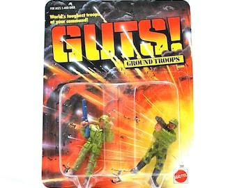 GUTS Ground Troops Hawkeye & Devil Dog MOC 1986