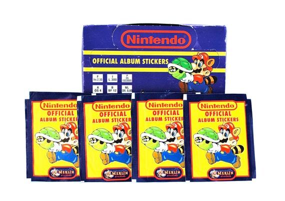 4 Nintendo Album Sticker Packs by Merlin 1992