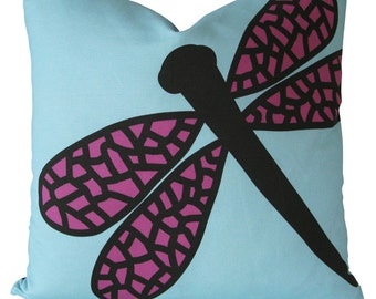 Dragonfly Pillow Case - Decorative Pillow Cover - Ships within 2 days