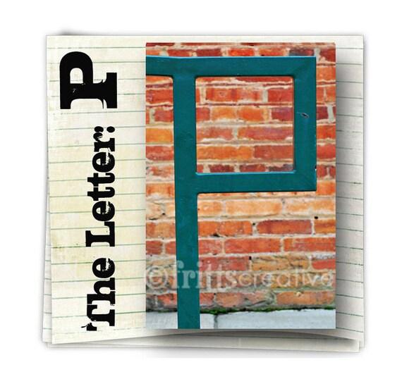 Letter P Alphabet Photography  COLOR 4x6 Photo Letter UNFRAMED