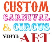 Wall Safe Vinyl Circus Carnival Lettering Letters Decal Custom Personalized Removable Adhesive Quote Nursery Crib Kids Childs Bedroom Room