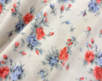 1 yard Padstow Range large blue floral by Christina Strutt of Cabbages & Roses for moda fabrics
