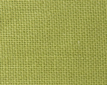 "End of the Roll - Heavy Weight Linen Upholstery Fabric -  Heavy Linen Fabric - Color-Sea Grass - 1 piece 29"" x 56"""