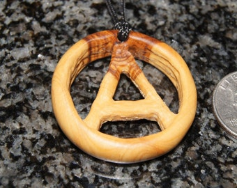 SALE - Olive Wood Pendant, wood jewelry, wood grain