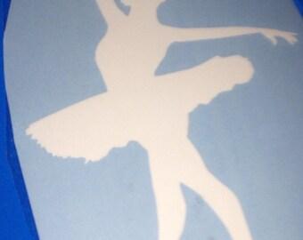 Ballet dancer car decal