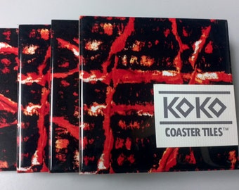 Koko Coaster Tile No. 38 Four Matching Tiles
