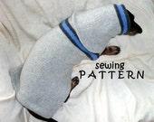 Dachshund Sewing Pattern DIY Sweater & Snood handmade pets clothing