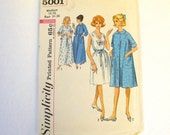 Vintage Sewing Pattern 1960s Misses Nightgown Robe Size 14 16 Medium Simplicity 5001