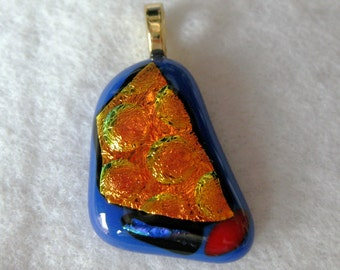 Starry night fused glass pendant: charity donation