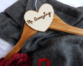 Birthday Gifts For Him, Bamboo Wood Hanger, Anniversary Gift For Husband
