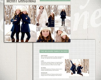 Christmas Card Template: Bright White B - 5x7 Holiday Card Template for Photographers