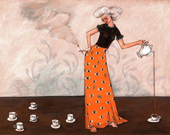 Tea Party. Limited Edition Fine Art Print