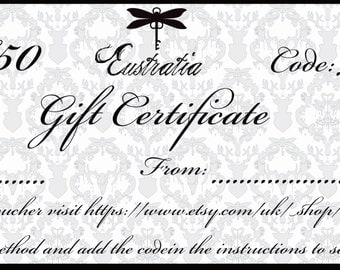 Eustratia gift certificate, 50 pounds