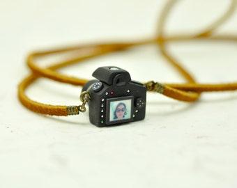 Personalized Nikon D600 Camera miniature necklace