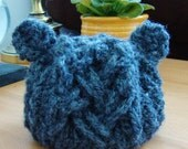 Faux Cable Little Bear Hat - Newborn through Child Size - Photography Prop - You Choose Color
