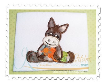 Donkey with Carrot Applique