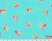 Flower Sugar Spring 2013 by Lecien - Tiny Tossed Roses on Aqua 30750 70