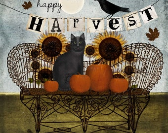 Happy Harvest Art, Download & Print, 8.5x8.5