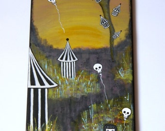 Original Acrylic Painting On Canvas - Surreal Painting - Fatum - Wall Decor - OOAK