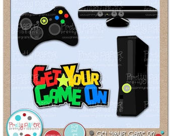 Get Your Game On Cutting Files & Clip Art - Instant Download