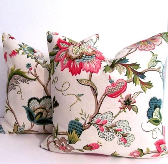 Pindler & Pindler Designer Pillow Decorative Pillow Cover Jacobean Pattern