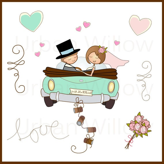 just married in minze 13 st ck clipart set in. Black Bedroom Furniture Sets. Home Design Ideas