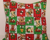 12x12 Christmas Dogs Accent Pillow