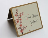 Cherry Blossoms Place Card -- Private Listing