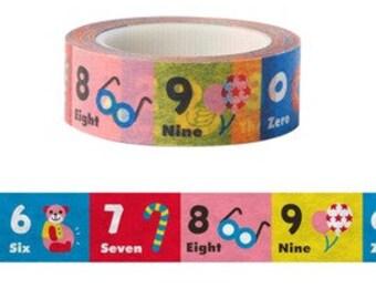 Kids Number Washi Tape (10M) - 9327901