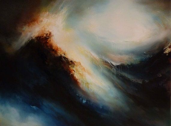 Large Canvas Abstract Oil Painting by Artist Simon Kenny Earth Painting Oil