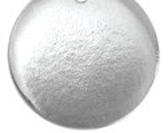 """2 PEWTER SOFT STRIKE (tm) Metal Stamping Blank Charms ( 15/16"""" or 24mm ), Round Disc Tags, 16 gauge  by ImpressArt msb0134"""
