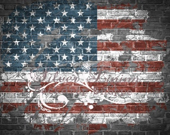 NEW ITEM Vinyl Photography Backdrop / All AMERICAN Brick