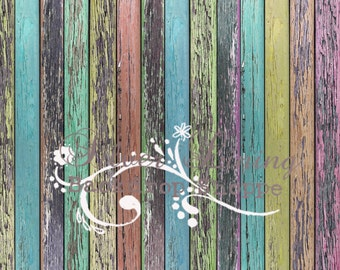 NEW ITEM 7' x 5' Photography Backdrop Rustic Colored Wood / Marin