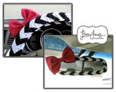 Steering Wheel Cover Bow Set, Custom Steering Wheel Cover and Mirror Cover with Bow, Chevron Wheel Cover Set Mirror Cover Bow BF11059