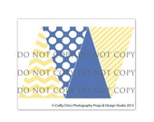 INSTANT DOWNLOAD : Digital Photography Prop Bunting Designs - Nautical