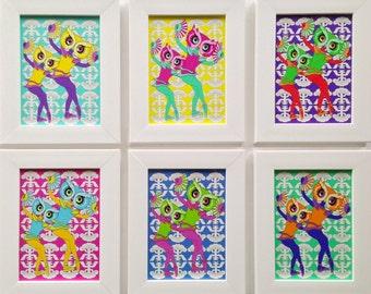 Mini Owl Dancers Framed Prints