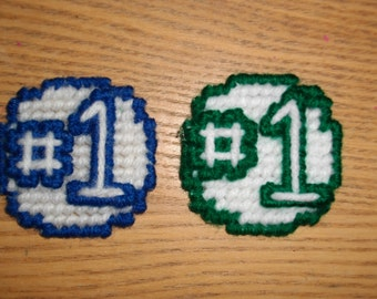 Set of 2 Number One magnets