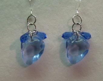 No. 120 Blue Sapphire Swarovski Earrings