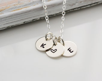 Custom Initials, Mothers necklace, Custom Initial Necklace, Bridesmaid Gift, Silver Necklace,Sister's Necklace, Silver Initial Necklace