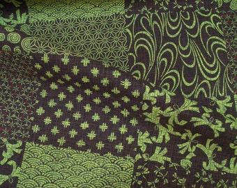 Japanese old motif, fat quarter, pure cotton fabric