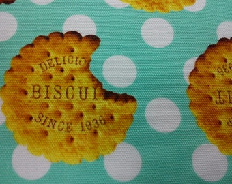 Delicious biscuit, mint, 1/2 yard, pure cotton fabric